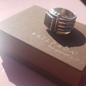 Silpada- Rare Retired size 8 Smoky Quartz Ring